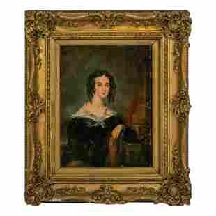 Victorian (19C.) Antique Figural Portrait Painting
