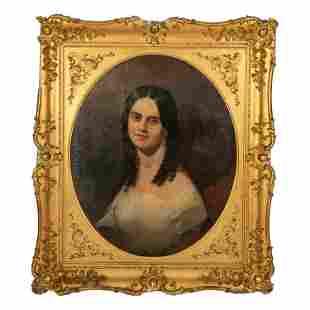 19th Century Figural Antique Portrait Oil Painting