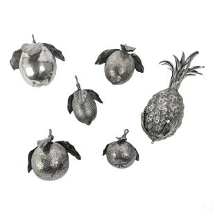 800 Silver Fruit Flora Christmas Ornament LOT 402g
