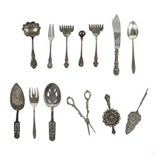 Sterling Silver Assorted Flatware Collection 13 Pc