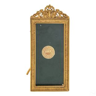 """18K Gold Electroplated 4"""" x 2"""" Photo Picture Frame"""