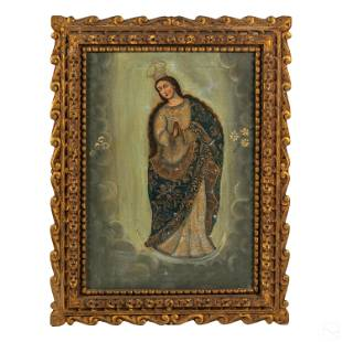 Spanish Colonial Style Our Lady Religious Painting