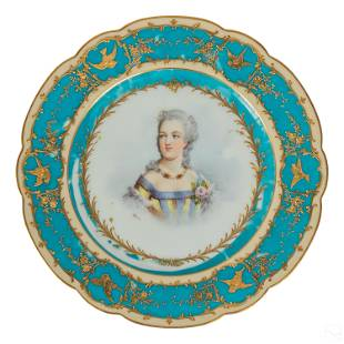Limoges French (19C) Antique Signed Portrait Plate