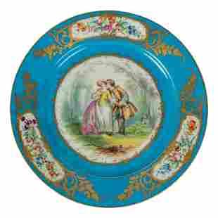 Limoges Style French (19C.) Antique Portrait Plate