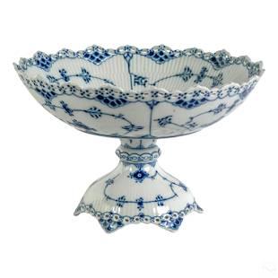 Royal Copenhagen Blue Fluted Full Lace Salad Bowl
