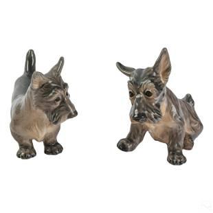 Dahl Jensen Danish Porcelain Terrier Dog Figurines