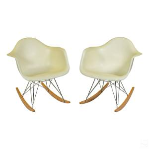 Eames Herman Miller DSR Eiffel Rocking Chairs PAIR
