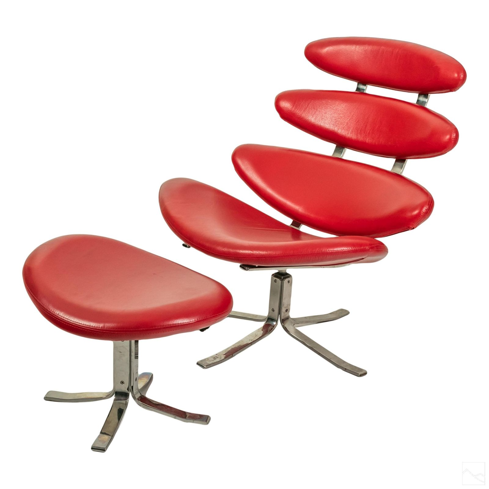 Corona Chair with Ottoman Designed by Paul Volther