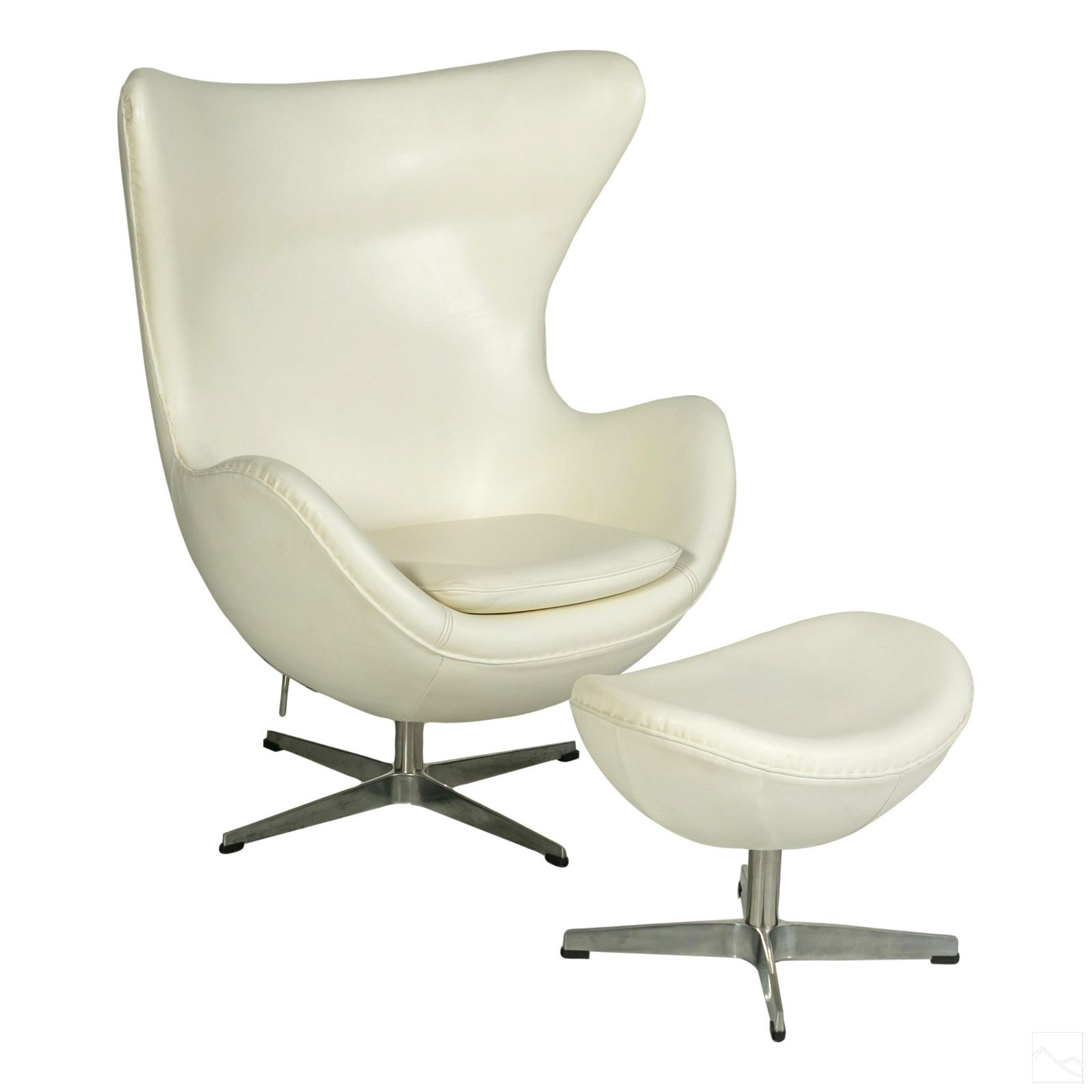 Egg Chair with Ottoman Designed by Arne Jacobsen