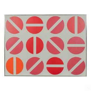 Modern Geometric Abstract Flathead Screw Painting