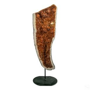 "Amber Citrine 36"" Geode Cathedral Mineral Specimen"