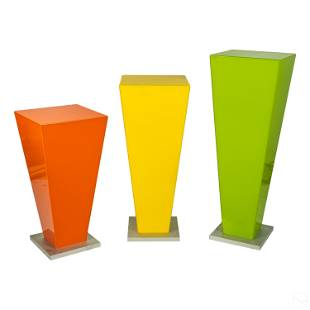 Modern Acrylic Tropical Fruit 3 Pedestal Stand SET