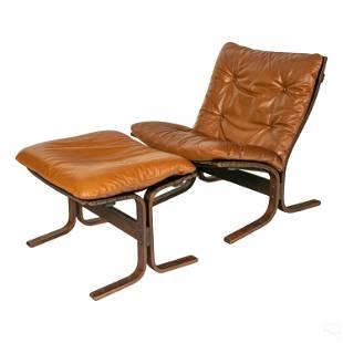 Ingmar Relling Modern MCM Siesta Chair & Ottoman