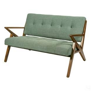 Modern Ink + Ivy Seafoam Rocket Settee Arm Sofa