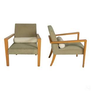Ligne Roset Modern Upholstered Lounge Arm Chairs