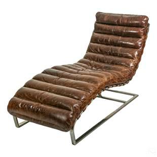 Restoration Hardware Oviedo Leather Lounge Chair