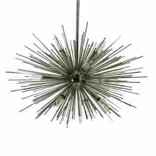 Modern Atomic Chrome Sputnik Star Burst Chandelier