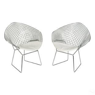 Modern Wire Diamond Chairs Design by Harry Bertoia