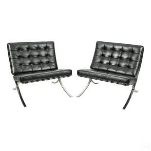 Barcelona Lounge Chairs Designer Mies Van Der Rohe