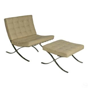 Barcelona Chair & Ottoman Design Mies Van Der Rohe