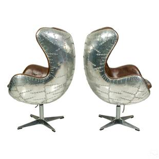 AVIATOR Riveted Egg Chairs by Restoration Hardware