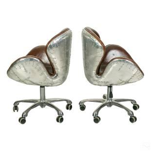 AVIATOR Riveted Swan Chairs Restoration Hardware
