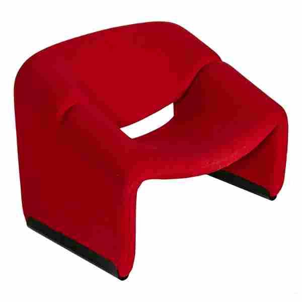 Pierre Paulin (1927-2009) Groovy Ribbon Red Chair