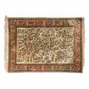 Oriental Persian Floral with Birds Carpet Area Rug