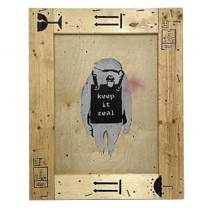 Keep It Real Monkey Graffiti Pop Art after Banksy