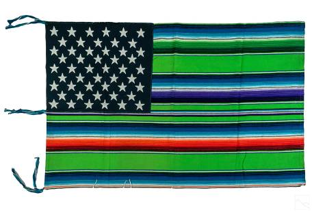 Nacho Becerra (b.1962) Textile Art American Flag