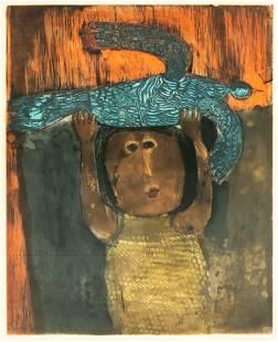 Graciela Rodo Boulanger b.1935 Abstract Lithograph