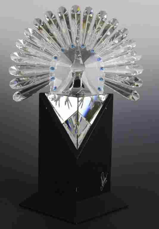 Rare 1998 SCS Swarovski Crystal Peacock L/E Figurine