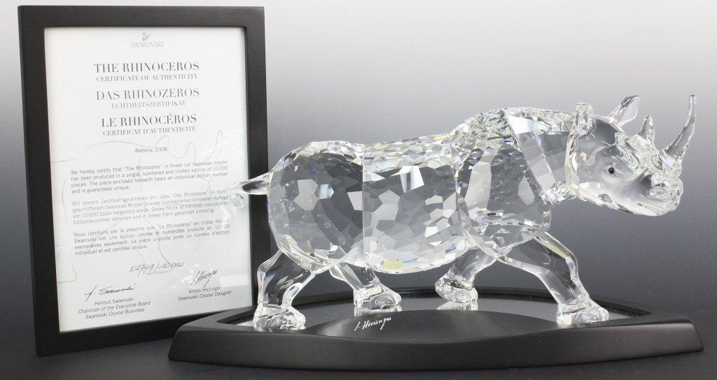 2008 SCS Swarovski Rhinoceros Crystal Rhino Figurine