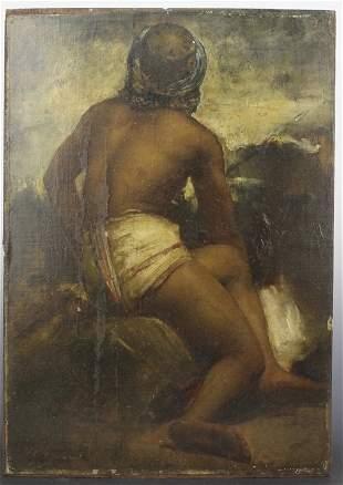 Antique Orientalist Oil Painting JL Gerome Style