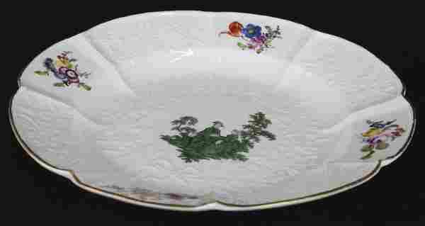 "18th Century Meissen Figural Porcelain 10"" Dinner Plate"