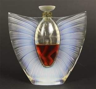 "Lalique France Sylphide Crystal Scent 5"" Perfume Bottle"