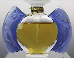 """Lalique France Jour Et Nuit Crystal 5"""" Perfume Bottle"""