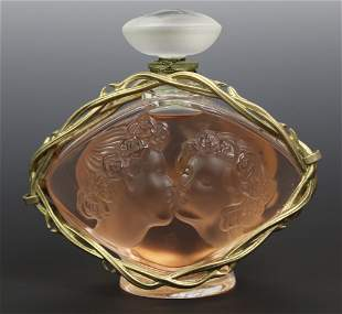 Lalique France Le Baiser Crystal Scent Perfume Bottle