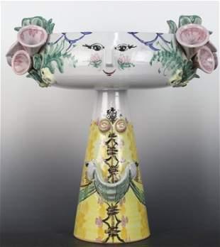 """Bjorn Wiinblad Blomst Maiden Art Pottery 15"""" Sculpture"""