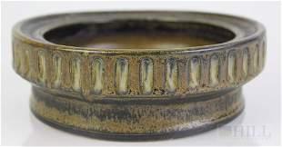 """Signed Erik Ploen Danish Modern Art Pottery 7"""" Bowl"""
