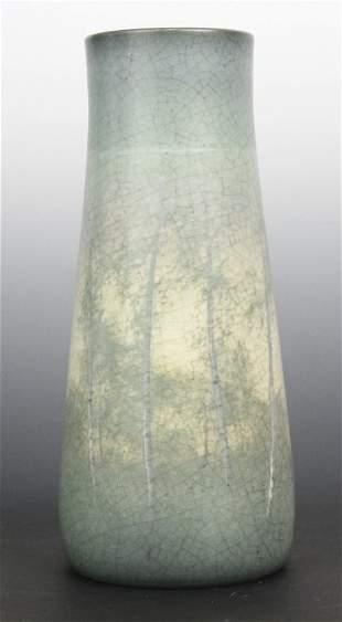 Signed Kataro Shirayamadani Rookwood Scenic Vellum Vase