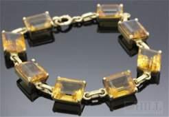 Tiffany  Co 14k Gold 45 CT TW Golden Citrine  Bracelet