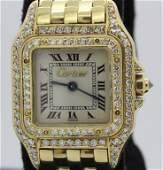 CARTIER 18k Gold w/ Diamond Panthere Watch Wristwatch