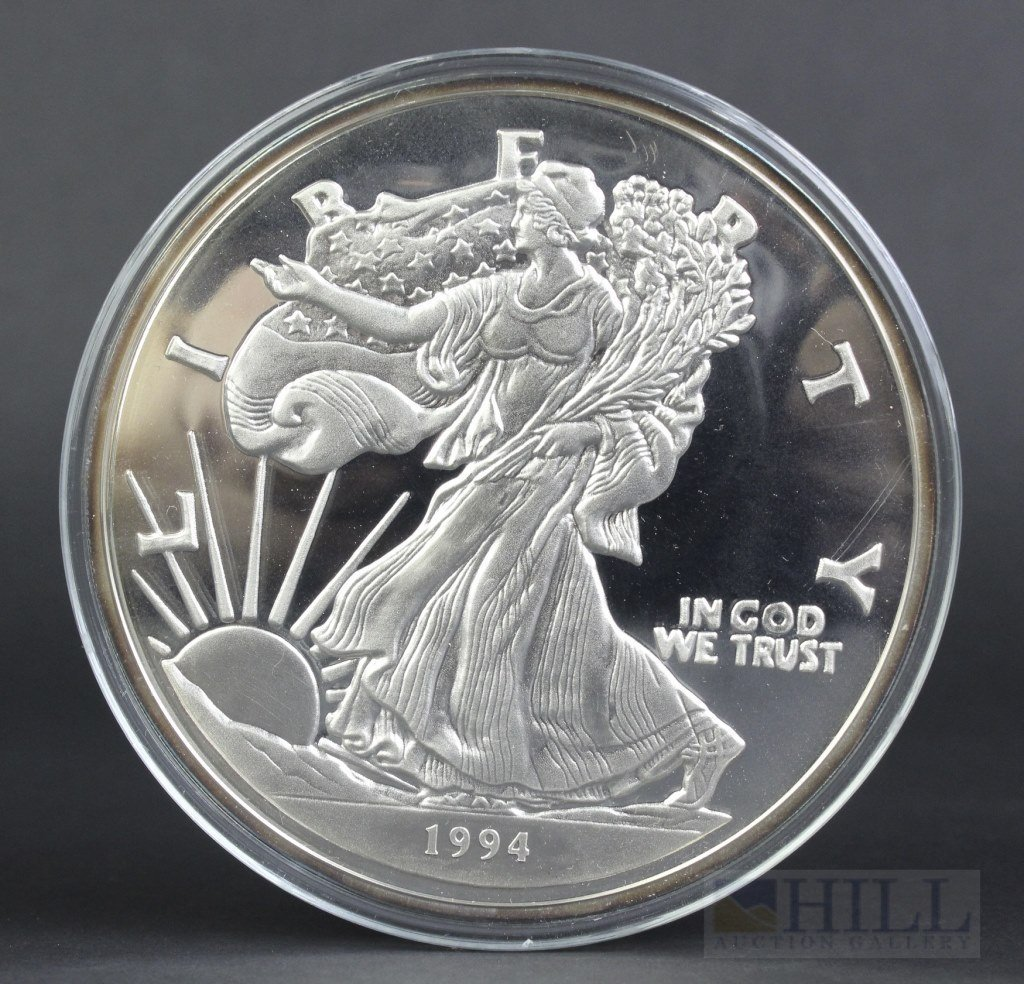 1994 Walking Liberty One Pound .999 Pure Silver Dollar
