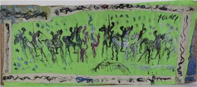 Purvis Young Warrior Spirit Horses Outsider Painting