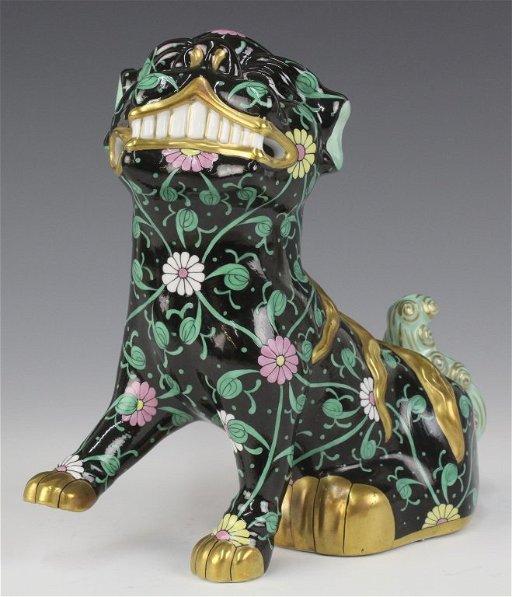 Herend Hungary Seated Foo Dog Porcelain Figurine