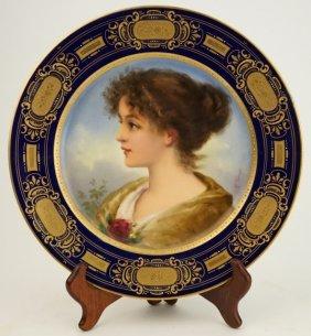 Royal Vienna F. Tenner Porcelain Portrait Plate