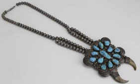 Harry Morgan American Indian Turquoise Necklace