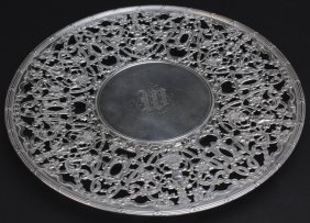 Gorhan Sterling Silver Ornate Pierced Cake Plate