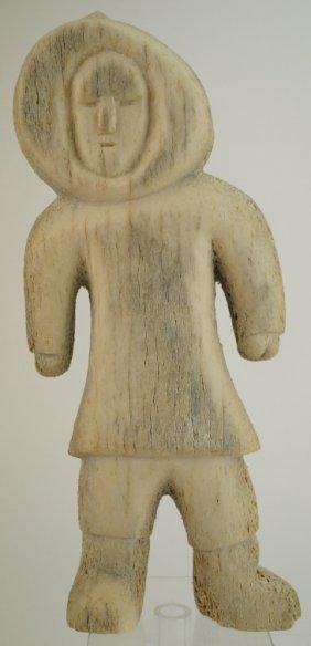 "Eskimo Inuit Carved Whale Bone 10"" Figure"
